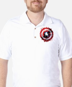 Cap Shield Spattered T-Shirt