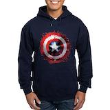 Marvelcaptainamerica Hoodie (dark)