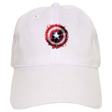 Baseball Cap Shield Spattered Baseball Cap