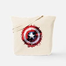 Cap Shield Spattered Tote Bag