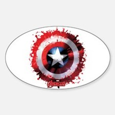 Cap Shield Spattered Decal
