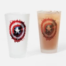 Cap Shield Spattered Drinking Glass
