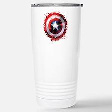 Cap Shield Spattered Stainless Steel Travel Mug