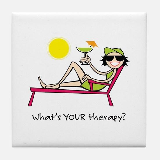 Sun Therapy Tile Coaster