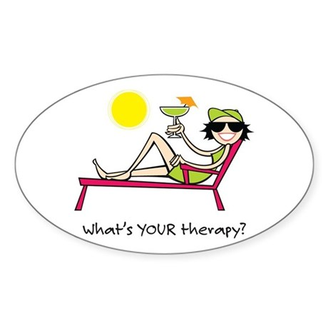 Sun Therapy Oval Sticker