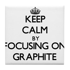 Keep Calm by focusing on Graphite Tile Coaster