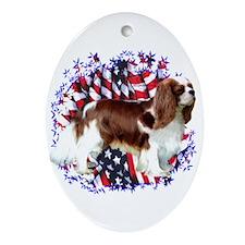 Cavalier Patriot Oval Ornament
