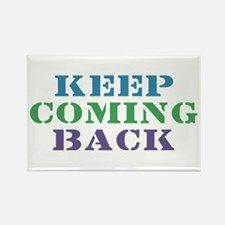 Keep Coming Back Recovery Rectangle Magnet (10 pac