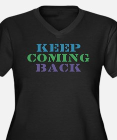 Keep Coming Back Recovery Women's Plus Size V-Neck