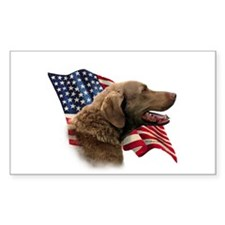Chessie Flag Rectangle Decal