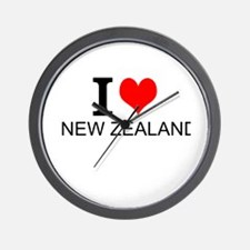I Love New Zealand Wall Clock