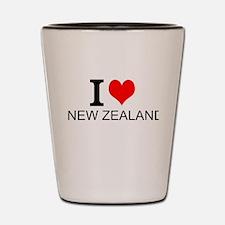 I Love New Zealand Shot Glass
