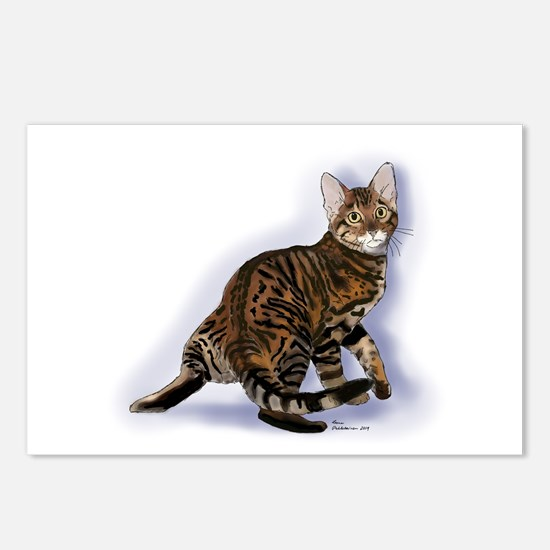 Toyger Turning Postcards (package Of 8)