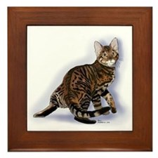 Toyger Turning Framed Tile