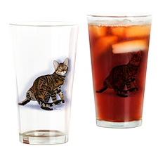 Toyger Turning Drinking Glass