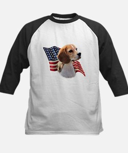 Beagle Flag Kids Baseball Jersey
