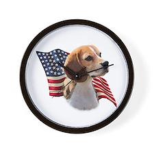 Beagle Flag Wall Clock