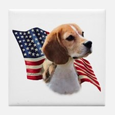 Beagle Flag Tile Coaster