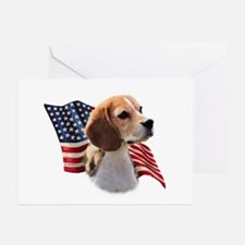 Beagle Flag Greeting Cards (Pk of 10)