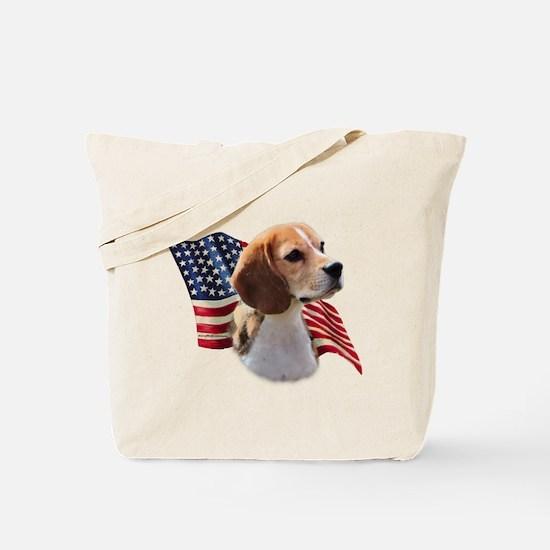 Beagle Flag Tote Bag