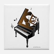 Ken grand piano 1 Tile Coaster