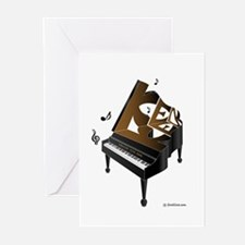 Ken grand piano 1 Greeting Cards (Pk of 10)