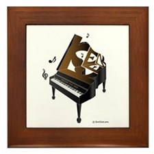 Ken grand piano 1 Framed Tile