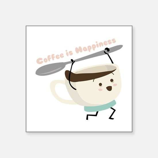 Coffee Is Happiness Sticker