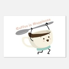 Coffee Is Happiness Postcards (Package of 8)