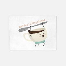 Coffee Is Happiness 5'x7'Area Rug