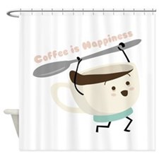 Coffee Is Happiness Shower Curtain
