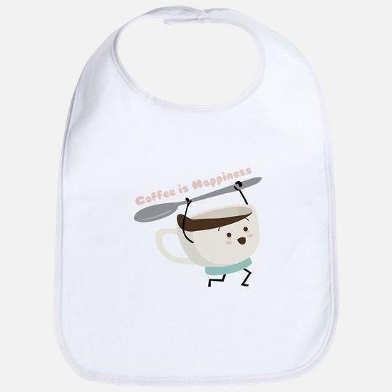 Coffee Is Happiness Bib