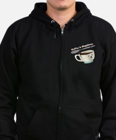 Coffee Is Happiness Zip Hoodie