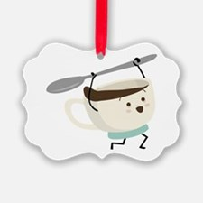 Happy Coffee Cup Ornament