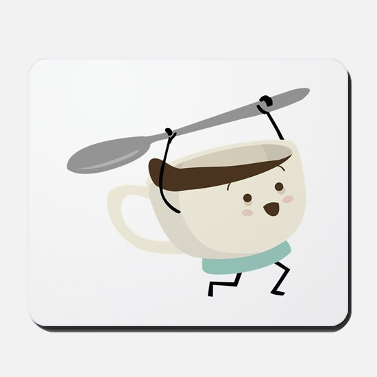 Happy Coffee Cup Mousepad