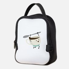 Happy Coffee Cup Neoprene Lunch Bag