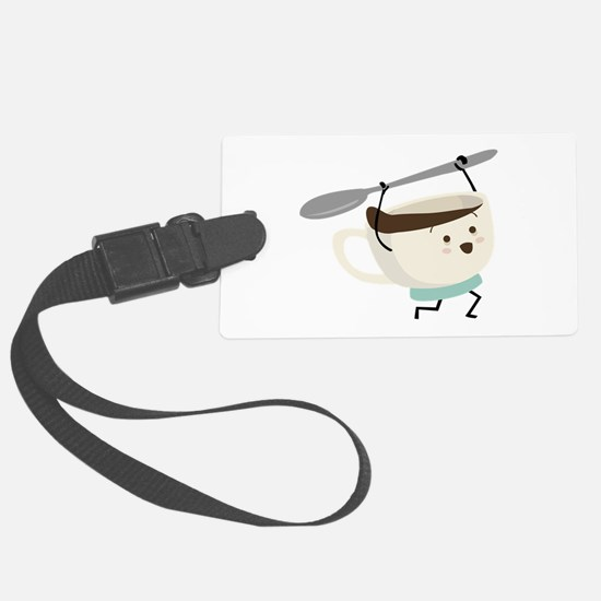 Happy Coffee Cup Luggage Tag