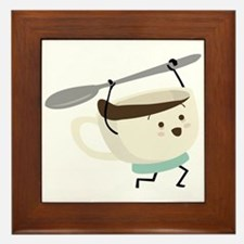 Happy Coffee Cup Framed Tile