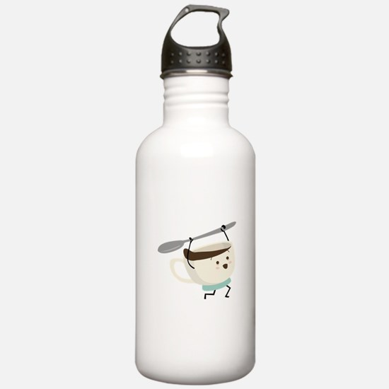 Happy Coffee Cup Water Bottle