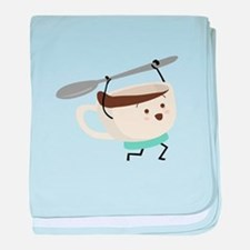 Happy Coffee Cup baby blanket