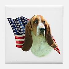 Basset Flag Tile Coaster