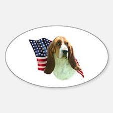 Basset Flag Oval Decal