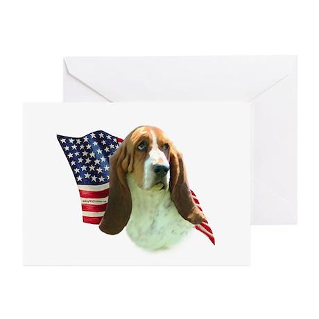 Basset Flag Greeting Cards (Pk of 10)