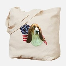 Basset Flag Tote Bag