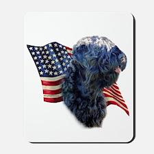 Black Russian Flag Mousepad
