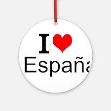 I Love España Ornament (Round)