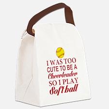 GIRLS SOFTBALL Canvas Lunch Bag