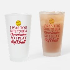 GIRLS SOFTBALL Drinking Glass