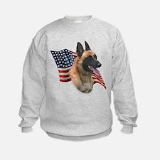 Malinois Flag Sweatshirt