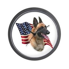 Malinois Flag Wall Clock